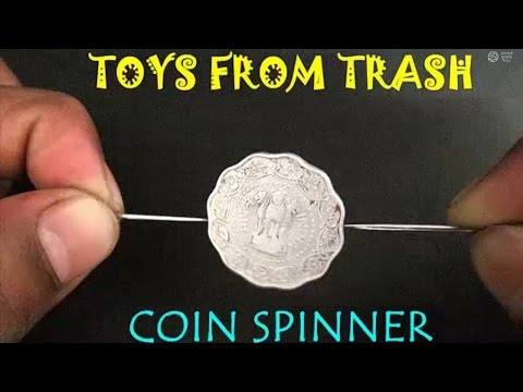 COIN SPINNER - ENGLISH - Simple, traditional spinning toy!