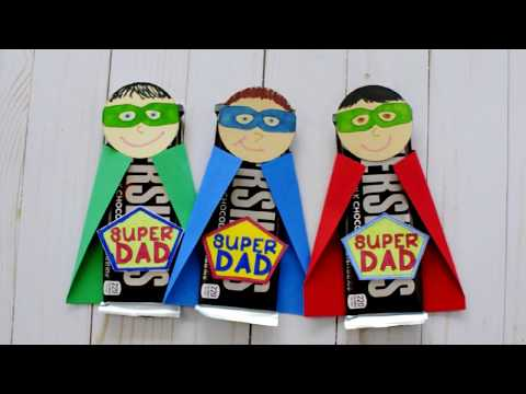 Superhero Dad Father's Day Gift For Kids To Make