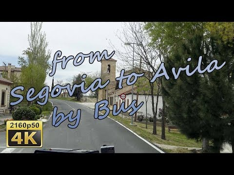 from Segovia to Avila by Bus - Spain 4K Travel Channel