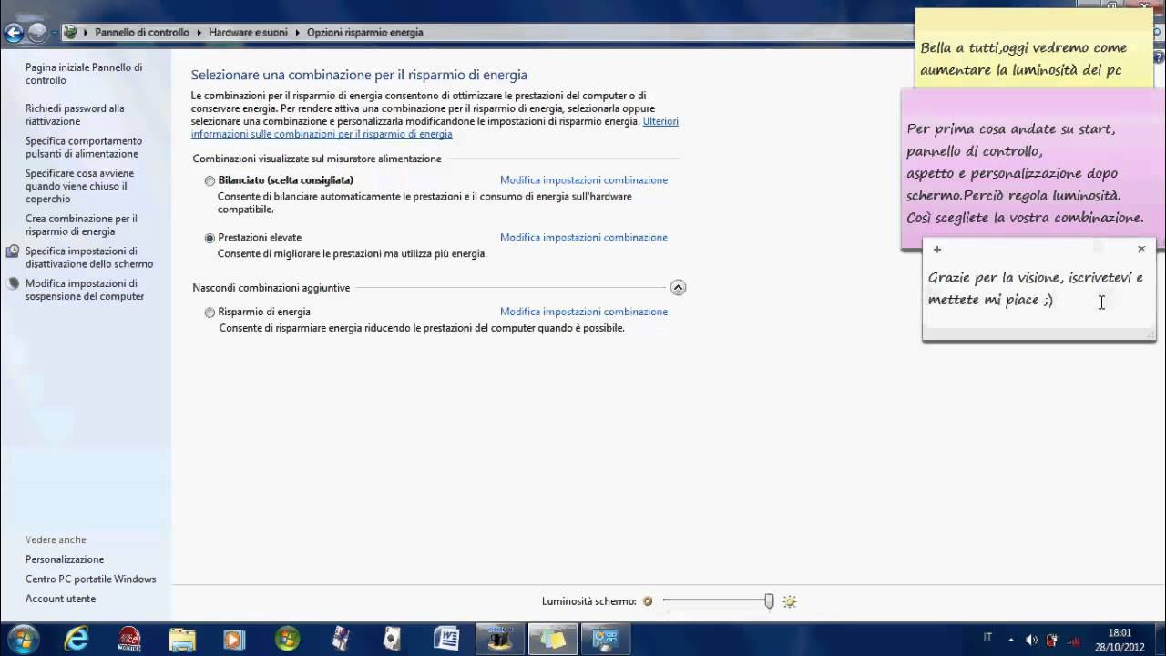 Regolazione Luminosit Windows 7.Come Regolare La Luminosita Del Pc
