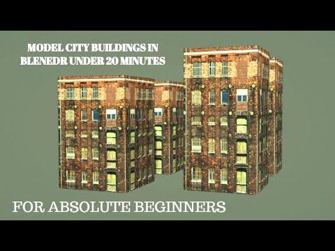 BUILDING MODELING UNDER 20 MINUTES BLENDER(BEGINNERS)