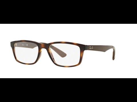 4ef4b25378 Ray Ban RX7063 Eyeglasses 5577 SHINY HAVANA - YouTube