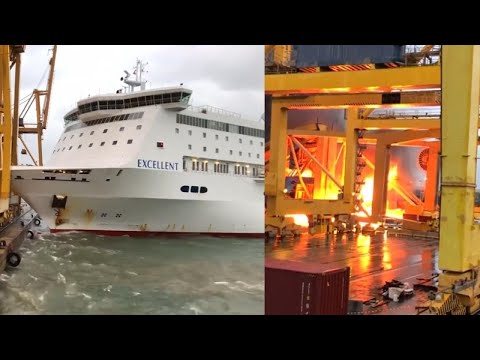 Ferry Crashes Into Spanish Dock, Sparking Huge Explosion