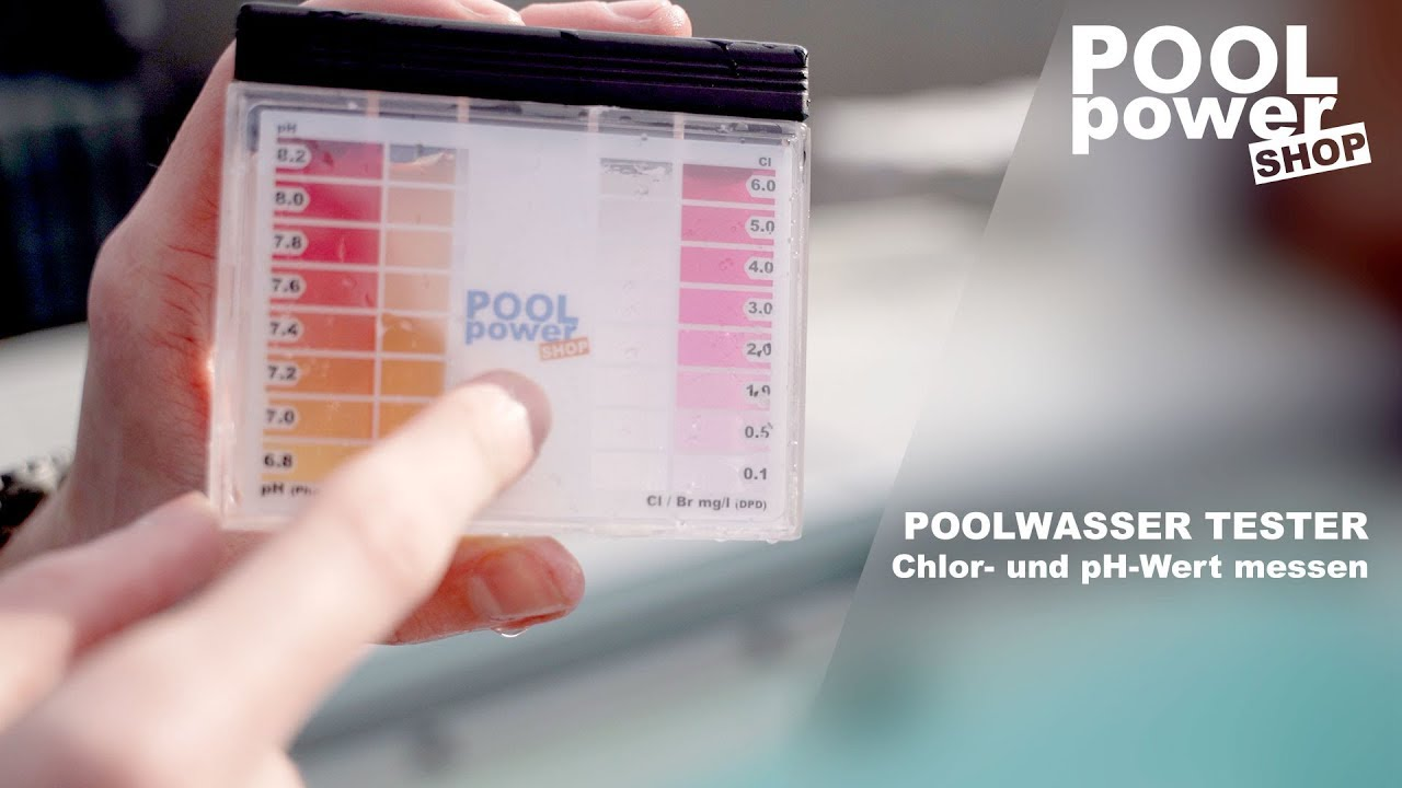 Chlor Pool Messen Pooltester Chlor Und Ph Wert Manuell Messen