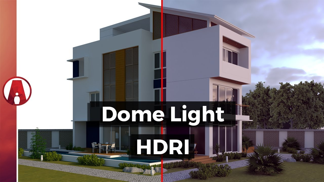 How to use DOME LIGHT and HDRI for Exterior Lighting | Vray for Sketchup