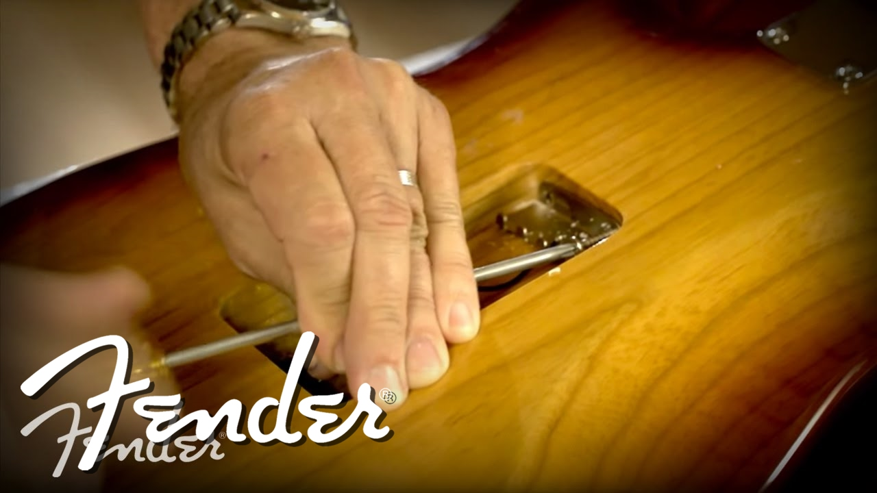 How To Install A Fender Tremolo Bridge Youtube American Special Stratocaster Wiring Diagram