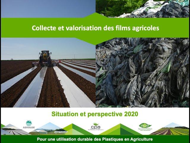 Edition 2020 : Situation et perspectives de la collecte des films agricoles