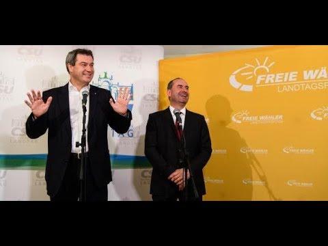 BAYERN: CSU und Freie Wähler einigen sich auf Koalition