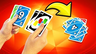 Playing 2 DECKS At The SAME TIME! (Uno Cheat)
