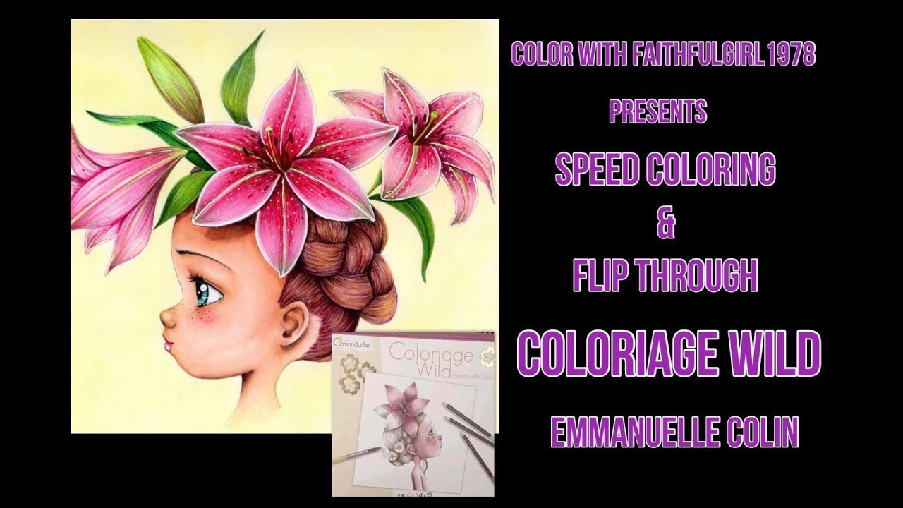 Flip Through Speed Coloring Coloriage Wild Emmanuelle Colin