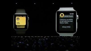watchOS 5 brings Walkie-Talkie feature to Apple Watch | Apple WWDC 2018