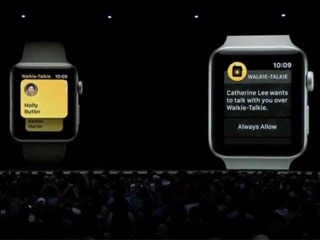 watchOS 5 brings Walkie-Talkie feature to Apple Watch | Apple WWDC 2018