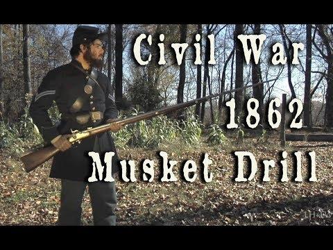 Civil War - 1862 U.S. Army Musket Drill HD