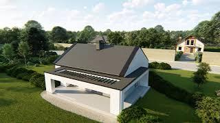 як зробити двосхилий дах на гаражі
