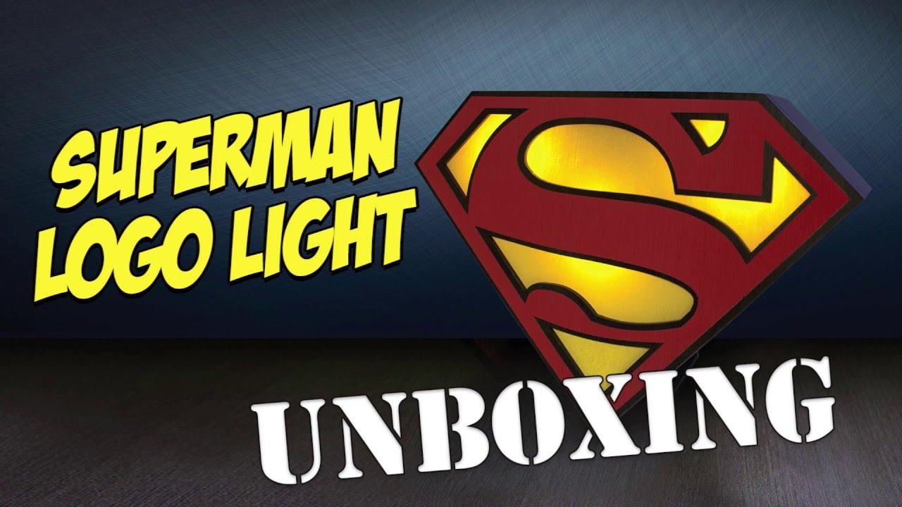 Superman Logo Light   Unboxing From Hawkinu0027s Bazaar