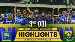Sri Lanka seal series | 3rd ODI Highlights | Sri Lanka vs South Africa 2021