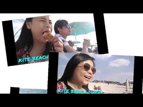 Ang sarap ng hotdog! kite beach dubai🏖️🌴⛱️