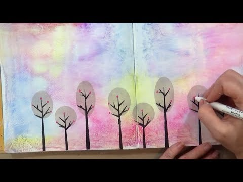 Neocolor II Art Journal Background | Mixed Media
