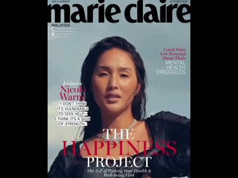 Marie Claire Malaysia October 2019 Moving Cover: Nicole Warne
