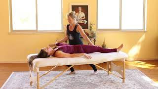Thai Massage Leg Stretching Sequence for Table - Hamstrings, Calf, Gluteus, Gastrocnemius