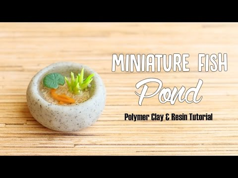 Miniature Fish Pond│Polymer Clay & Resin Tutorial