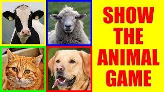 Show me the FARM ANIMAL Game for Kids - Where is the animal? Farm Animals Vocabulary in 4K