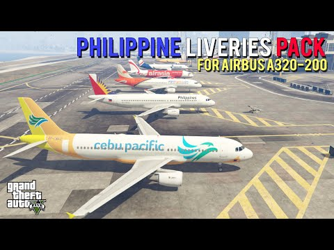 Grand Theft Auto V - Philippine Liveries Pack for Airbus A320-200 [Mod Showcase]
