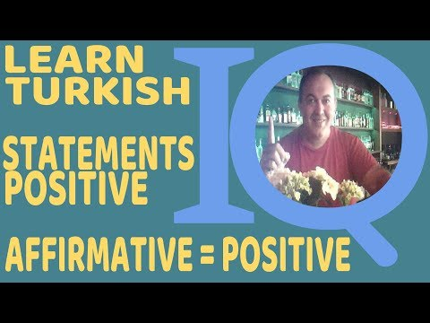 Turkish Language Grammar Affirmative Positive sentences