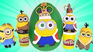 HUGE King Bob Surprise Egg! Play Doh Minions Movie GIANT Toy Egg MyLittlePony Disney Princess Toys
