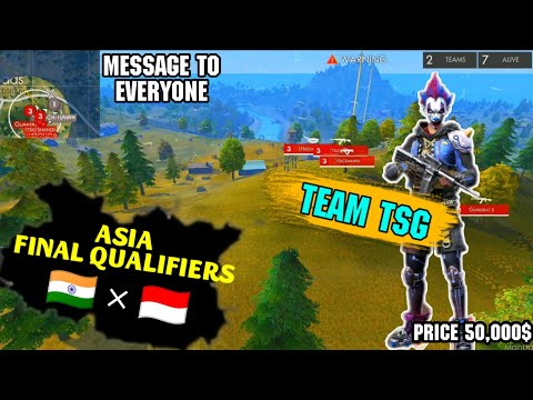 FREE FIRE SEA IN ASIA QUALIFIERS TSG WON THE FINALS || OUR REACTION FOR INDONESIA 🇮🇩 || FREEFIRE