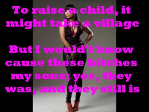 Danny Glover Remix Verse- Nicki Minaj (Lyrics on Screen) New 2014