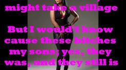 Danny Glover Remix Verse- Nicki Minaj (Lyrics on Screen) New 2014