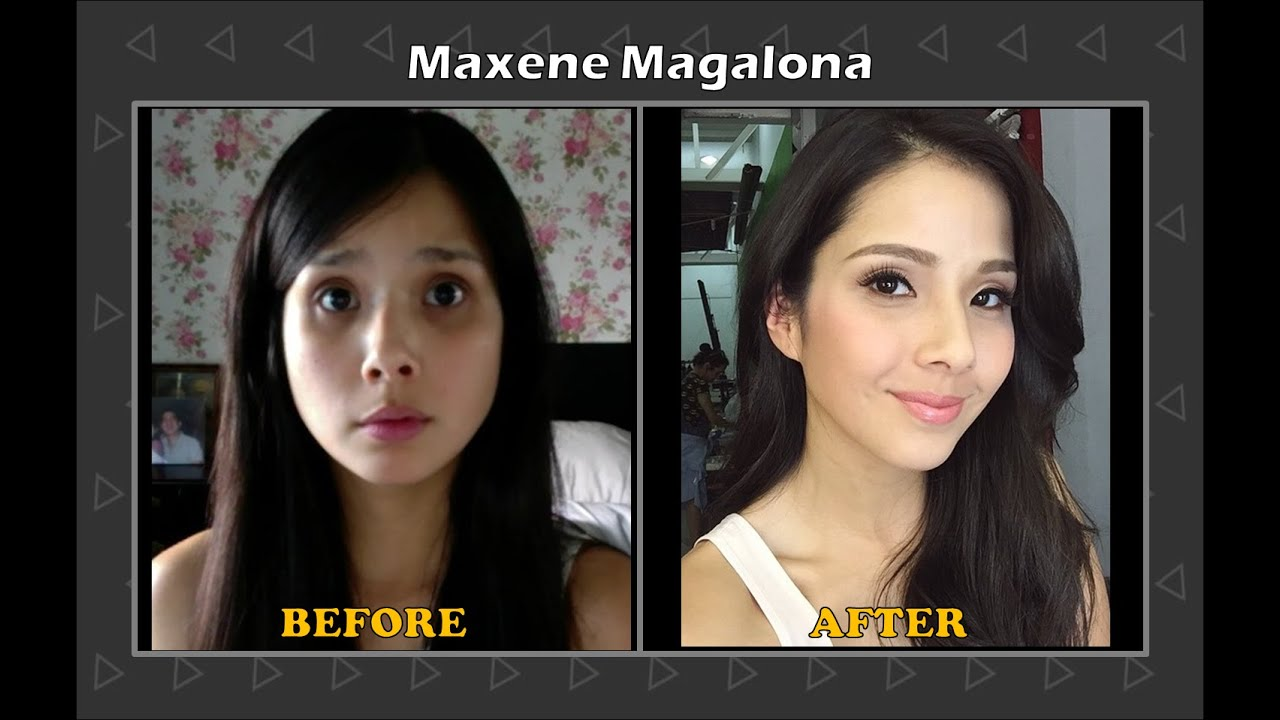 filipina celebrities before and after makeup transformation