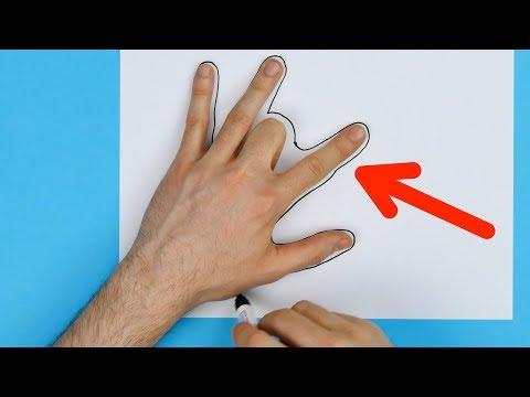 가운데 손가락을 접고 손을 따라 그리면... 이렇게 근사할 수가!