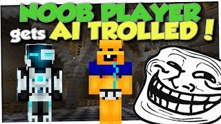 Minecraft Trolling - NOOB HELPER AI TROLL (Minecraft Pranks Ep 36)