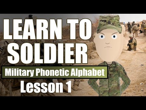 Learn To Soldier: Military Phonetic Alphabet