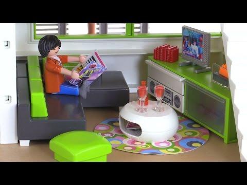 Playmobil modern living room review set 5584 youtube for Playmobil living room 4282