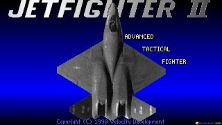 Jetfighter II gameplay (PC Game, 1990)