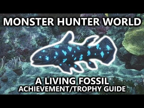 Monster Hunter World - A Living Fossil Achievement/Trophy Guide - Capture The Petricanths Fish