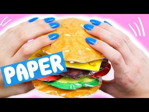 diy paper squishy *3D BURGER*