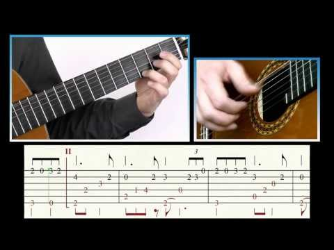 ♫♫ Pavane (G. Fauré). Guitar Tutorial (Score & TAB)