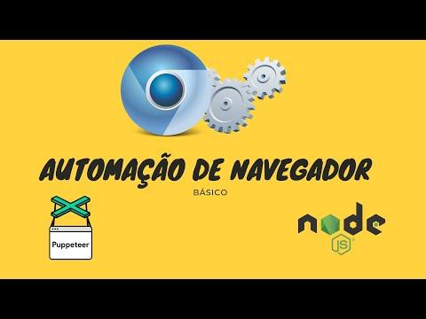 Automação De Navegador Web  Usando Puppeteer Com Nodejs