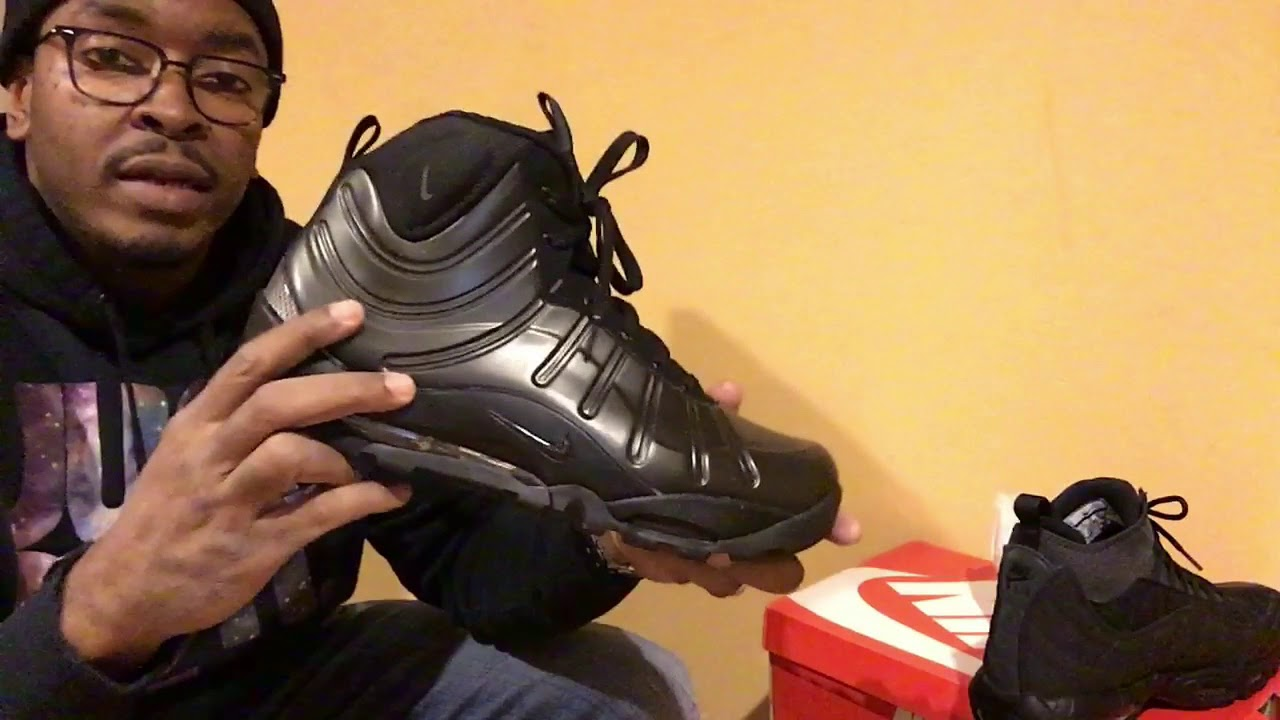 brand new 23443 a5c16 NIKE AIR MAX 95 SNEAKERBOOT OLIVE   NIIKE AIR BAKIN FOAMPOSITE ANTHRACITE  UNBOXING ON FOOT REVIEW