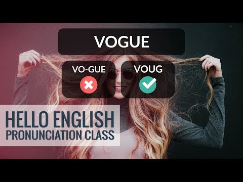 How To Say Chic, Vogue, Posh, Etc.? Hello English Pronunciation Class 28