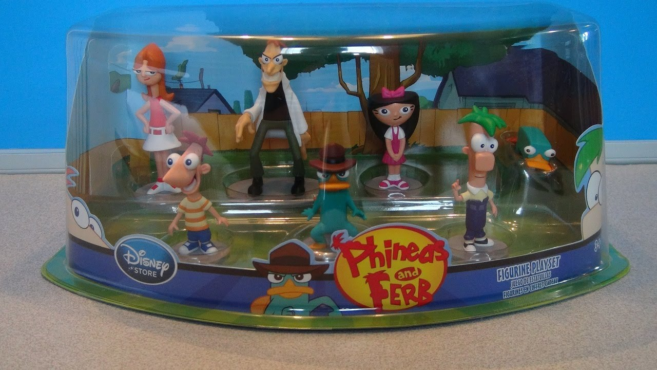 Phineas And Ferb Disney Store Figurine Playset Toy Review