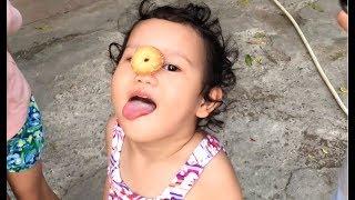 Bé Bun Thử Thách Ăn Bánh Bằng Mũi Và Cái Kết 💓 BunBun Kids TV