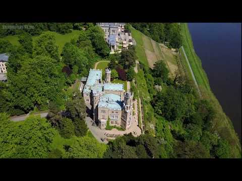 Albrechtsberg Castle, Dresden, Germany  -  Dji Mavic Pro drone -  Skydronauts