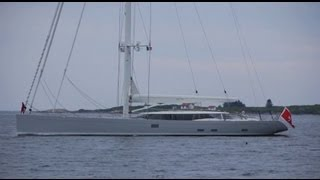 Zefira - modern sailing yacht - Boothbay Harbor, Maine, USA
