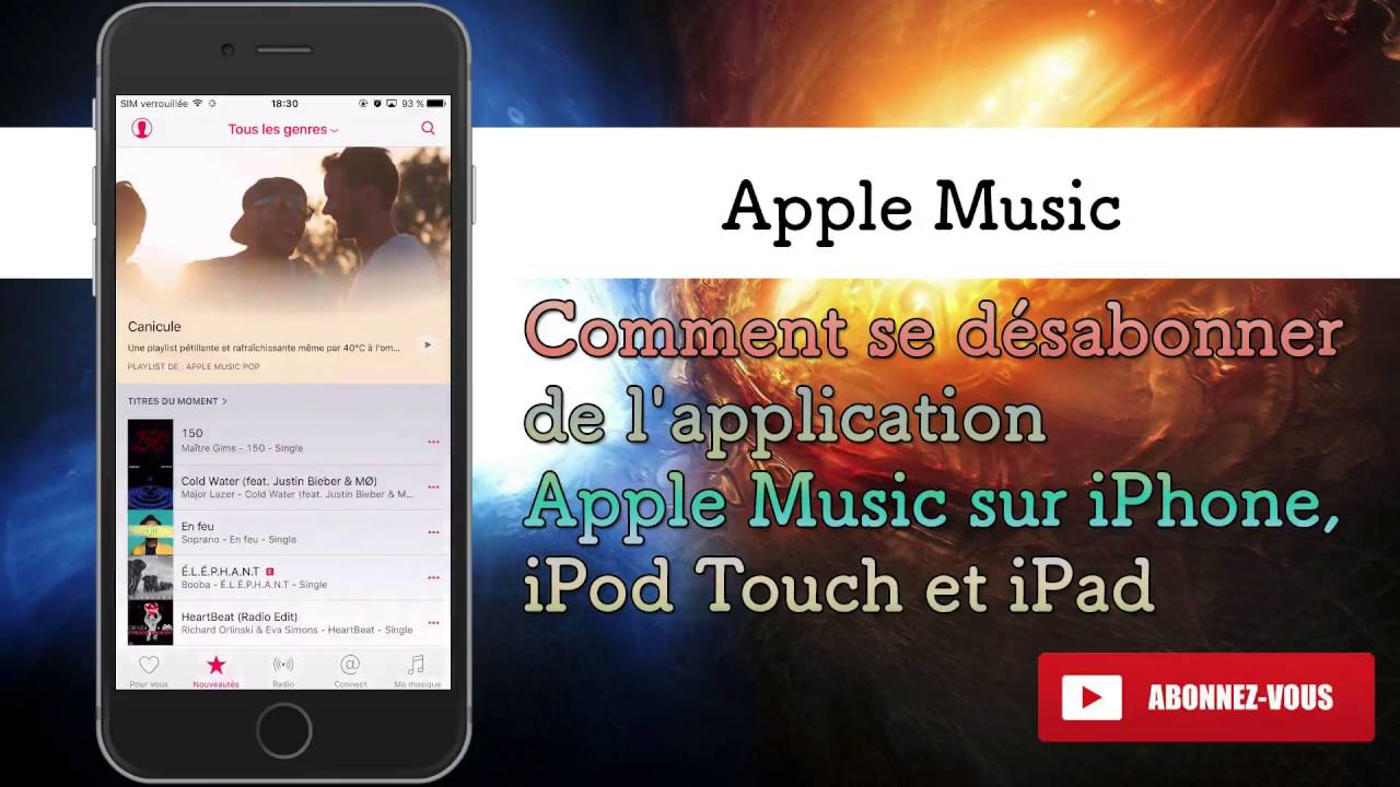 comment se d sabonner de l 39 application apple music sur l 39 iphone ipod touch et ipad youtube. Black Bedroom Furniture Sets. Home Design Ideas