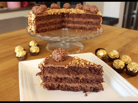 Ferrero ROCHER-Torte / Ferrero Rocher-Cake / leckere Schokoladen-Sahne-Torte